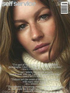 Gisele Bündchen, SELF SERVICE cover