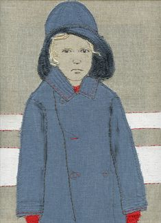 By Sue Stone, textile artist (womanwithafish), from a series of self-portraits for each year of her life.