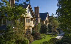 English Manor House - Wadia Associates Dream House Plans, My Dream Home, English Manor Houses, English Country Style, English Tudor, Cottage, Cabin, House Styles, Luxury Mansions