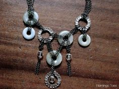 Anthro Chained Disk Bib Necklace - flamingotoes.com