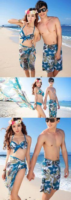 14ca5eb447 The new couple swimsuit three-piece swimsuit sexy couple bikini honeymoon  vacation packages $16 Honeymoon