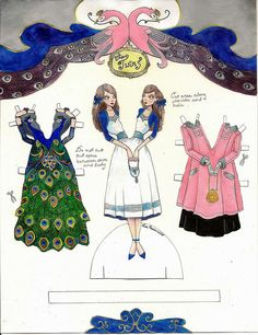 The Twins paper doll