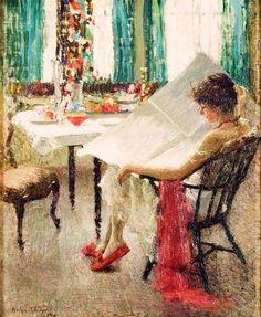 Morning News (Notícias da Manhã) Helen M. Turner - 1915 Jersey City Museum…