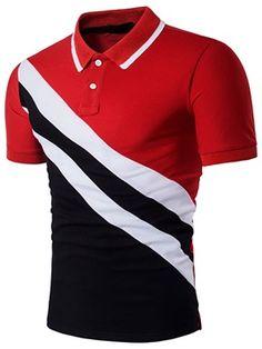 Shop Men Cut And Sew Polo Shirt online. SHEIN offers Men Cut And Sew Polo Shirt & more to fit your fashionable needs. Mens Casual T Shirts, Mens Tees, Men Casual, Shirt Men, Casual Tops, Camisa Polo, Shirts & Tops, Golf Shirts, Cotton Shirts