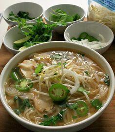 Grubarazzi: Homemade Chicken Pho (Pho Ga) - says another pinner: Great recipe. Will definitely do again.