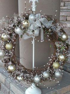 Inspired White on White Framed Wreath