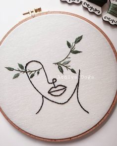 Simple Embroidery Designs, Modern Embroidery, Hand Embroidery Patterns, Embroidery Kits, Cross Stitch Embroidery, Crewel Embroidery, Print Patterns, Diy Broderie, Chalk Pastels