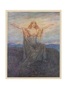 Rackham ,  Brunhilde Awakens  Canvas Art and Posters at Art.com