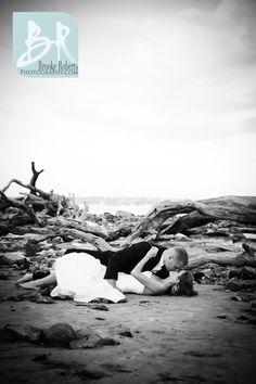 Trash the dress shoot at the beach. I would love to do a trash the dress shoot Sooo fun!