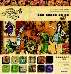 Magic of Oz - this nearly retired collection will give you heart, courage, and crafting smarts! #graphic45