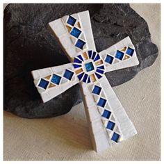 Celtic Style Cross Decorative Wall Cross Mosaic by HamptonMosaics