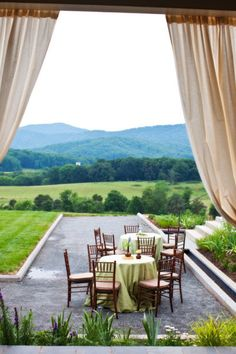 Rolling hills... Wedding location