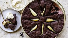 Helen Goh's pear and ginger brownie pudding Brownie Pudding, Pear, Recipes, Chocolate Pudding, Ripped Recipes, Cooking Recipes, Bulb