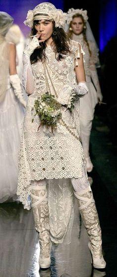Irish crochet &: Jean-Paul Gaultier. Crochet. Жан-Поль Готье
