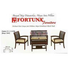Sofa Camry 211 Fortuna Condition:  New product  Sofa Jati Tipe Camry 211 dan meja  Terbuat dari kayu jati pilihan, meja kombinasi block teak