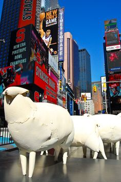 Art installation 'Counting Sheep' by artist Kyu Seok Oh, in Times Square. March 2 thru 7Times Square, 7th Avenue at 46th Street (map) ew101