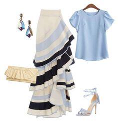 Moda Oprendi - Lombard Street Tiered Ruffle Skirt by Johanna Ortiz Silk Skirt, Ruffle Skirt, Ruffles, Skirt Suit, Jean Skirt, Love Fashion, Fashion Outfits, Fashion Design, Fashion Trends
