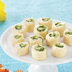 Easy-to-Make Party Menu | Creamy Pesto Pinwheels | AllYou.com