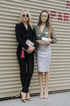 Pin for Later: Les Meilleurs Looks Street Style de la New York Fashion Week New York Fashion Week, Jour 3 Sonya Esman et Mary Leest.