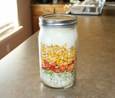 Thriving Possibilities' Chipotle Corn Chowder with Thrive Life Foods Mason Jar Meals, Meals In A Jar, Jar Gifts, Food Gifts, Heart Healthy Recipes, New Recipes, Soup In A Jar, Thrive Life, Freeze Drying Food