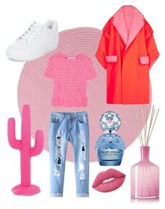 """P!nk passion!"" by renicherie on Polyvore featuring moda, Colonial Mills, Sunnylife, LAFCO, Comme des Garçons GIRL, New Look, Lime Crime e Marc Jacobs"