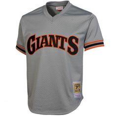 a02612665 Mitchell   Ness Will Clark San Francisco Giants 1989 Authentic Cooperstown  Collection Batting Practice Jersey - Gray