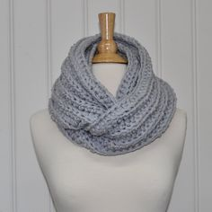 Handmade Chunky Cowl, Infinity scarf, Circle scarf. Made of 2 strands of acrylic yarn. The yarn is machine wash and dryable in cold with gentle cycle. I ship USPS First Class Mail with delivery confirmation included within US. Thanks for looking.