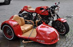 Ducati with sidecar