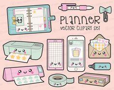 Premium Vector Clipart Kawaii por LookLookPrettyPaper en Etsy