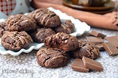 Cookies morbidi al cacao, senza uova nè burro
