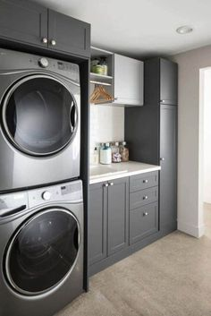 """Figure out even more information on """"laundry room storage diy cabinets"""". Have a look at our web site. Modern Laundry Rooms, Large Laundry Rooms, Laundry Room Layouts, Laundry Room Remodel, Farmhouse Laundry Room, Laundry Room Organization, Laundry Room Design, Laundry Storage, Laundry Decor"""