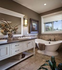 Traditional style bathrooms are classic in design, feeling more like a soothing spa oasis, with an aesthetic of elegant hues and super…
