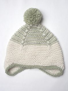 capovak's Ravelry project: Garter Ear Flap Hat by Purl Soho. Made from Drops Lima & Nepal.