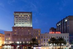 Astor Crowne Plaza New Orleans French Quarter (739 Canal Street) Situated on the corner of Bourbon and Canal Street, this New Orleans hotel boasts on-site dining and an outdoor pool. The French Quarter is 1 km away.  Cable TV is featured in all rooms at Astor Crowne Plaza New Orleans. #bestworldhotels #travel #us #neworleans
