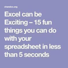 Excel can be Exciting – 15 fun things you can do with your spreadsheet in less than 5 seconds. they also help you keep your spreadsheets organised. Computer Help, Computer Technology, Computer Programming, Computer Tips, Computer Lessons, Energy Technology, Technology Gadgets, Computer Science, Excel Tips