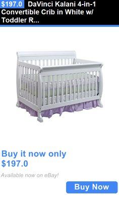 Baby Nursery: Davinci Kalani 4-In-1 Convertible Crib In White W/ Toddler Rail M5501w BUY IT NOW ONLY: $197.0