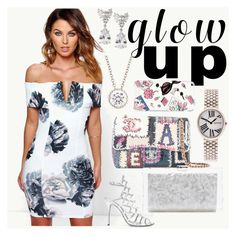 """""""Glow Up"""" by gadinarmada-1 ❤ liked on Polyvore featuring Boohoo, Schutz, Chanel, Fantasia by DeSerio, Edie Parker, Eberhard & Co., Kate Spade and glowup"""