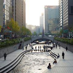 Cheonggyecheon Stream Seoul South Korea 2015 by @simoncroberts. The photograph…