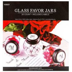 Clear Glass Favor Jars with Black Lid