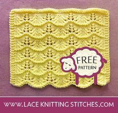 Lace Knitting 23 - Lace Knitting Stitches Free Baby Blanket Patterns, Crochet Blanket Patterns, Baby Blanket Crochet, Lace Knitting Stitches, Baby Knitting, Knitted Afghans, Knitted Hats, Animal Knitting Patterns, Lace Patterns