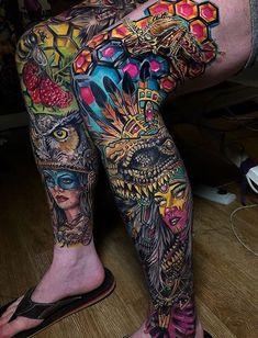 Ink addicts around the world unite shock mansion leg sleeves тату. Leg Tattoos, Tribal Tattoos, Sleeve Tattoos, Cool Tattoos, Tatoos, Tattoo Pierna, Tattoo Designs, Leg Sleeves, Half Sleeves
