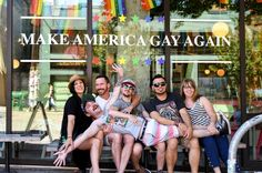It's the last week to support the @nclrights by buying The Gay cupcakes and #MakeAmericaGayAgain shirts and trucker hats! We have seen such amazing generosity from our #Seattle community. Please help us raise even more before the month ends! $1 from every Gay #cupcake and $2 from Make America Gay Again shirts and hats goes straight to the NCLR who are advancing the civil and human rights of #LGBT people and their families. Shirts can be found on cupcakeroyale.com! Also aren't these friends…