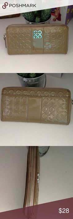 COACH ZIP AROUND WALLET Very good used condition, some signs of wear on zipper, inside is very clean and no flaws, enough space for all your needs,,, Coach Bags Wallets
