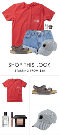 """Little Brown Dog:)"" by flroasburn on Polyvore featuring Levi's, Birkenstock, Bobbi Brown Cosmetics and Southern Proper"