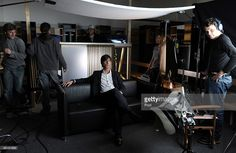 Head coach Joachim Loew of Germany sits on a sofa during a record of a Mercedes…