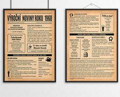 Dvoustranné noviny 1968, jako dárek nebo blahopřání. Název mohu přepsat na narozeninové, svatební, třeba i vánoční. Sami si vytisknete kolikrát chcete Humor, Live, Humour, Funny Photos, Funny Humor, Comedy, Lifting Humor, Jokes