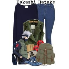 Kakashi Hatake by amarie104 on Polyvore featuring La Garçonne Moderne, Topshop, Tory Burch, even&odd, Givenchy and Aéropostale