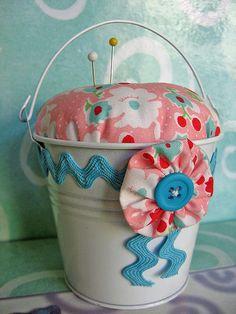 Mini Bucket Pincushion | Flickr - Photo Sharing!