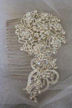 Love this one! Bridal Hair Comb Wedding Hair Comb- Wedding Hair Accessories-Rhinestone Bridal Comb-Crystal Wedding Comb-Bridal Headpiece