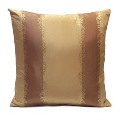 Beige and Light Copper (rust) Silk blend Decorative Throw Pillow Cover with Stripes,Modern pillow,Accent Pillow,Pillow Sham,Cushion Cover. Visit https://www.etsy.com/shop/SHPillows?ref=l2-shopheader-name to see the rest of our merchandise.  Thank you!!